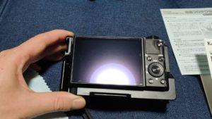 SONYサイバーショットRX100M7に液晶フィルム取付