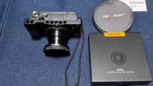 SONYサイバーショットRX100M7にNDフィルター取付