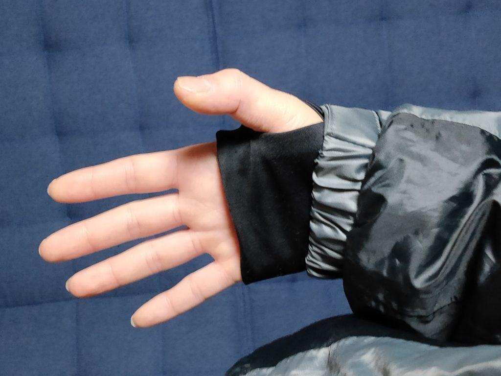 釣りに最適ワークマンの防寒着イージスのジャケット袖