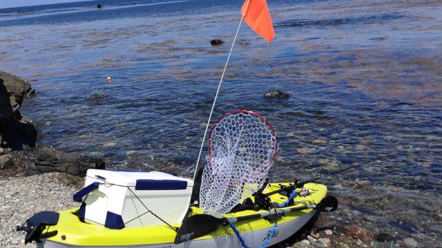 ゴロタ浜でカヤックフィッシング出艇