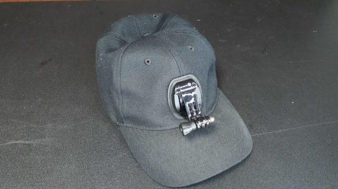 ゴープロ野球帽子マウント全体