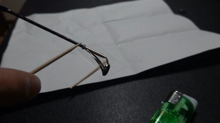 折れた竿の修理