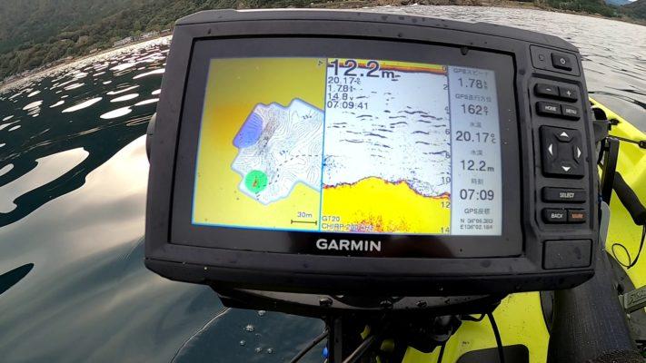 ガーミン魚探の反応