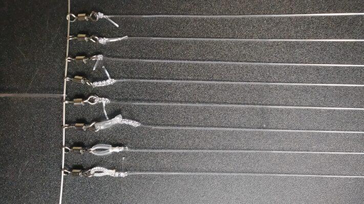 太いリーダーのノット強度検証。ワダノット Noobノット パロマーノット イモムシノット モンスターノット バナナリグ チューブノット 井上スーパーノット